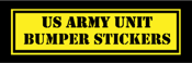 United States Army Custom Military Unit Bumper Stickers
