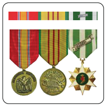military ribbons and military medals builder