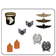 military medals, military ribbons, military badges, military patches