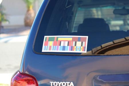 Custom military sticker decals