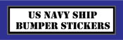 United States Navy Ship Bumper Stickers