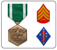 marine corps military medals, military ribbons and military products and gifts