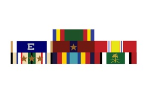Official Military Ribbons Custome sticker decals