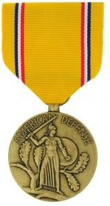 American Defense Full Size Military Medal