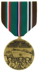 European Africian Middle Eastern Campaign Full Size Military Medal