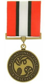 Multinational force ans observer full size military medal
