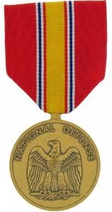 National Defense Service full size military medal