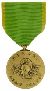 Womens Army Corps Service Full Size Military Medal