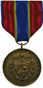 army of cuban occupation military medal
