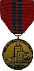dominican campaign navy military medal