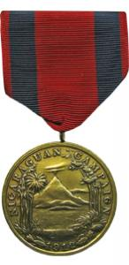 first nicaraguan campaign navy military medal