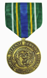korean defense service military medal
