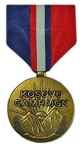 kosovo campaign military medals