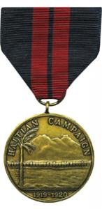 second haitian campaign marine corps medal