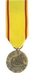 China Service miniature military medal
