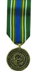 Korean Defense Service Miniature Military Medal