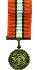 multinational force and observers miniature military medal