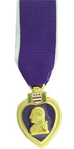 Purple Heart Miniature Military Medal