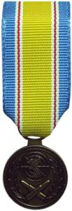 rok war service mini medal