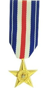 Silver Star Miniature Military Medal