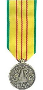 Vietnam Service Miniature Military Ribbon
